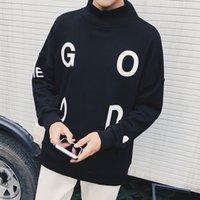 Wholesale Loose Turtleneck Hoodie - Wholesale-New Brand Fashion Pullover Tracksuit Men Letter Print Loose Style Hip Hop Hoodies Man 2016 Autumn Students Casual Sweatshirt XXL