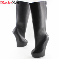 plataforma de cuero de alta rodilla al por mayor-Wonderheel Knee High boot 8