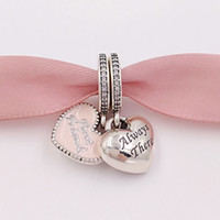 Autentici 925 Sterling Silver Beads Best Friends fascino rosa Charms Adatto europeo Pandora gioielli stile collana bracciali 791950CZ