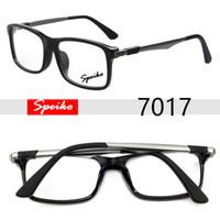 Wholesale Optic Glasses - Designer brand new acetate optic eye glasses SPEIKO 7017 Live style 5258 Matte Brown Black frame for astigmatism hyperopia myopia size Braz