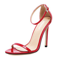 Wholesale Sexy High Heel Feet - Hot Sale Woman shoe Summer Sexy Sandals A word buckle foot ring high-heeled sandals Thin Heels High-heeled Sandals women's shoes