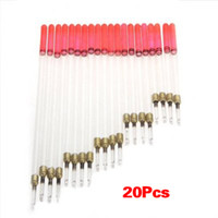 Wholesale Wholesale Crystal Stems - Wholesale- Good deal 20 Clear Crystal Waggler Fishing Fish Floats Floating Stem Tube Set