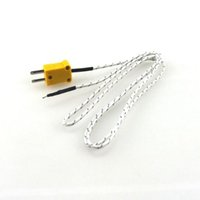 Wholesale types temperature controller for sale - Group buy 1M Length Wire K type Thermocouple Sensor Temperature Probe