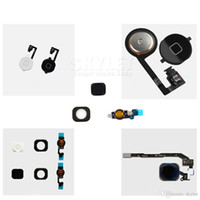 Wholesale Button Black Home 4s - Skylet For iPhone 4 4S 5 5C 5S Home Button With Flex Cable Assembly Replacement Part Black White Gold Free Shipping By DHL