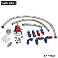 reguladores de presion de aceite al por mayor-Tansky - Kit de regulador de presión de combustible inyectado universal Indicador de líquido con ajuste de aceite adecuado para BMW 3 E30 m-technic 318i EP-FPR005