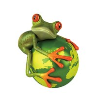 Wholesale Cartoon Color Frogs - 2017 Hot Sale Cool Graphics 3d Funny Car Stickers Frog Earth Vinyl Car Stying Creative Stickers Jdm 14*17cm