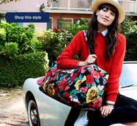 Wholesale Cloth Duffel Bags - Large Duffel Travel Bag Pure cotton cloth travel bag