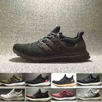 Wholesale 2017 Ultra Boost Triple Black white gold Women s MEN S Running Sport Shoes High quality Summer breathable sneaker Size US5 US11