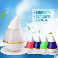 Wholesale Led Auto Lights - Portable Ultrasonic Cool Mist Aroma Humidifier 250ml Essential Oil Diffuser LED Lights Changing With Auto Shut-off Function CCA5639 40pcs