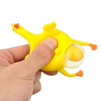 Unisex squeeze buckle - 2017 New Funny vent toys Squeeze Chicken Laying Egg Hens Key Buckle Gag Novelty Toys Anger Stress Reliever Ball Relief Toy Gift