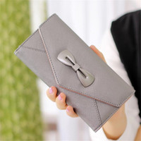 Wholesale Nice Ladies Clutch Bags - Women Evening Bags Nice Bowknot Clutch Bags PU Leather Wallets & Holders Card Holder Wallets For Lady Dress Accessories