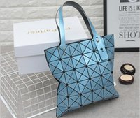 Sacs Pour Dames En Diamant Pas Cher-Famous Brand Ladies Plain Folding Geometric Diamond Lattice Laser Handbags Designer Femmes Sequins Messenger Totes Sacs à bandoulière