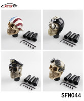 Wholesale Skull Gear Knobs - RASTP- FreeShipping Racing Car Gear Shift Knob Devil Head Knob Modified Resin Knob Soldier Skull With Hat And Glasses LS-SFN044
