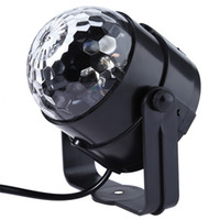 Neue Genaration LED Kristall Magic Ball 3W Mini RGB Bühnenbeleuchtung Effekt Lampe Birne Party Disco Club DJ Licht Show US / EU Stecker