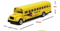 Wholesale Toy Buses American - Alloy bus toys Long nose bread bus the American school bus school alloy model car toys for children