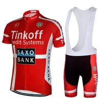 Wholesale Saxo Bank Tinkoff Bib Shorts - Saxo Bank Tinkoff Cycle Jersey Ropa Ciclismo short sleeve Cycling Clothing bicicleta bike jersey Cycling bib shorts