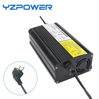 Wholesale Battery Charger 6a - YZPOWER Auto-Stop 50.4V 6A Lithium Battery Charger For 44.4V Li-Ion Lipo Battery Pack Cooling with Fan Inside