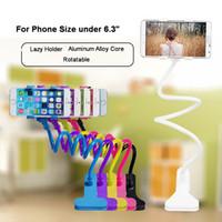gooseneck klibi toptan satış-Evrensel Uzun Kol Tembel Cep Telefonu Gooseneck Standı Araba Tutucu Esnek yatak Masa Masa Klip Braketi iPhone Samsung Akıllı Telefonlar için