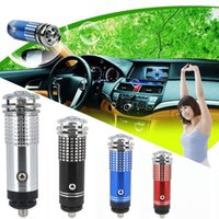 Gel black car ionizer - Black Mini Air Purifier New V Practical Mini Auto Car Fresh Freshener Air Ionic Purifier Oxygen Bar Ozone Ionizer Cleaner