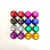 Wholesale Wholesale Xbox Thumbsticks - Aluminum Alloy Metallic Metal 3D Analog Thumbsticks Thumb stick Joystick cap Cover for xbox 360 controller buttons DHL FEDEX FREE SHIPPING