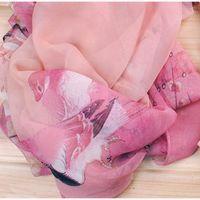 Wholesale wholesale designer silk scarves women - Wholesale- 2017 New Women Chiffon Floral Printed Designer Scarf Summer Beach Gradient Plaid Flower Casual Silk Scarves Long Wrap