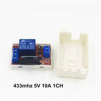 Wholesale Learning Code Transmitters - Wholesale- DC 5V 10A 433 Mhz Wireless Remote Control Switch 1CH relay 433Mhz Receiver Module For learning code Transmitter Remote