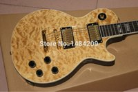 Wholesale Guitar Wavy - Wholesale- Wholesale - - High Quality New Arrival Blown wavy top flower binding Custom Electric Guitar