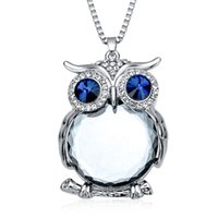 Wholesale Owl Necklace Charms - Fashion Womens Necklaces Jewelry Trendy Charms Crystal Owl Necklace Gold Long Chain Animal Necklaces&Pendants 2016 Hot Sale