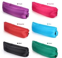 Wholesale Wholesale Accessories Sofa - Fast Inflatable Air Sleeping Bag Camping Sofa Hangout Lounger Air Camping Sofa Beach lay bed Nylon Fabric Sleep Bed Inflatable sofa