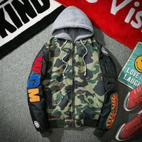 Wholesale Men Suit Design Embroidery - new design kanye west jacket coat Embroidered Baseball uniform jacket justin biebe camouflage flying suit jacket