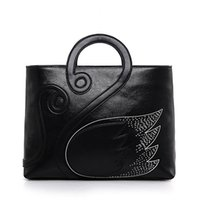 Wholesale New Arrival Winter Shoulders Handbag - 2017 New arrival autumn winter fashion women handbags totes simple chinese style single shoulder leather handbags