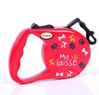 Wholesale Retractable Belt Dog Leash - 3 Color Automatic Retractable Nylon Dog Pet Leash&Collar Flat Belt Dog Training Leash For 25Kg Pets Mix Order M Size Min Order 10PCS