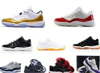 Wholesale Sporting Medals - Womens Varsity Red Retro X1 11 low QS Bred georgetown basketball shoes Citrus mens athletic trainer sports Hot sell 11s Gold Medal sneaker