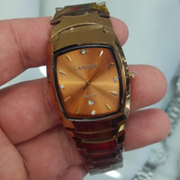 Wholesale Tungsten Watches For Men - New arrival high quality fashion gold bracelet Tungsten steel watch men quartz watches for men clock super gift for man