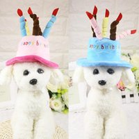 Hats spring candle - Dog Birthday Hat Cute Cat Dog Pet Cap Hat Cake and Candles Design Cosplay Costume Accessory Headwear Pink Blue One Size Fits Most