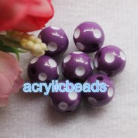 20PCS Factory 20MM Chunky Acrylique Gumball Polka Dot Round Resin Beads Plastic Bubblegum Balls Jewelry Making DIY