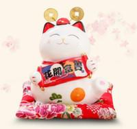 gato adulto set venda por atacado-Gato da fortuna configurar uma loja para abrir um cofrinho para decoração de adultos