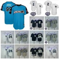 Wholesale New Jersey Yankees - Men's New York Yankees Jersey 2 Derek Jeter 24 Gary Sanchez 99 Aaron Judge Navy Blue 2017 All Star Baseball Jerseys