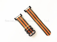 Wholesale 24mm Watch Strap Orange - 2017 For Suunto Core Watch Band Orange within Green 24MM Nylon Zulu 5-Ring Men Sport Strap + Adapters + Lugs Free Shipping - 123