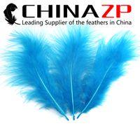 Wholesale Cheap Marabou - Gold Manufacturer CHINAZP Crafts Factory 100pcs lot 10~20cm(4~8inch) Length Cheap Wholesale Dyed Turquoise Blue Marabou Turkey Fluff Feather