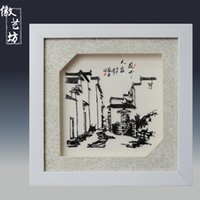 iron&china carve architecture - Wuhu Iron Pictures iron picture of Huizhou style architecture home decorate office decorate Top quality iron art