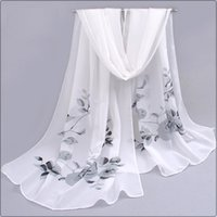 Wholesale Silk Chiffon Scarves For Autumn - Wholesale-2016 New Women Silk Scarf Fashion Spring And Autumn Scarf Long Design printing shawl Silk Scarves Chiffon Female scarf for women