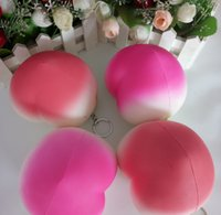 Wholesale Wholesale Fake Fruits Vegetables - Cheap Peach Foam Artificial Fake Fruit Vegetable For Home Wedding Decoration Cognitive Toy Dining Table