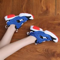 Wholesale White Canvas Pumps Women - Insta Pump Fury OG White Chalk Inflatable Deflated Boots Shoes Women Instapump Pump Fury Sneaker Shoes Size 36-40