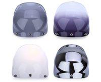ingrosso casco pieno aperto-Il sistema di viti si adatta alla maggior parte del viso aperto con elmetti a mezza faccia Fibbia a 3 pin Visiera modulare Visiera per casco da motociclista