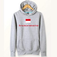 Indonesien Flagge Hoodies Nation Unisex weiche Sweat-Shirts Land Fleece Kleidung Pullover Sweatshirts Outdoor-Sport-Mantel Gebürstete Jacken