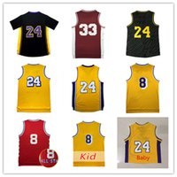 Wholesale B 24 - Throwback Mens #24 Bryant jersey Short K B Baby jerseys High quality Youth K be 8 jerseys cheap Youth jersey Embroidery Logos Free Shipping