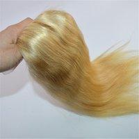 613 fermeture frontale blonde achat en gros de-Prix de gros pour 360 Dentelle Frontale 613 Extensions de Blonde 360 Prédation de dentelle pré-plissée Extensions de cheveux vierges frontales
