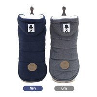 Wholesale thick pet winter coat - Winter Warm Pet Dog Clothes Hooded Thick Cotton Vest Jacket Cat Chihuahua Puppy Dogs Coat S-XXL
