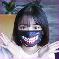 Wholesale Winter Half Mask - Tokyo Ghoul Kaneki Ken Horror Halloween Cosplay Mask, Winter Anti-Dust Cotton Funny Warm Face Mask Mouth Muffle